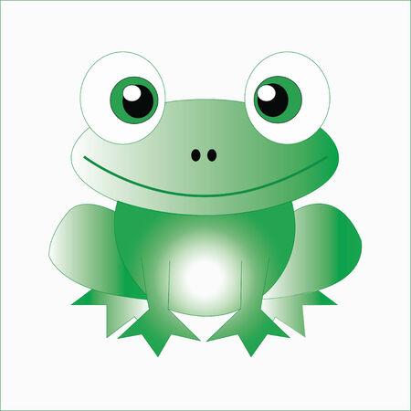 foodstuffs: Little frog. Vector illustration of a cute little frog.