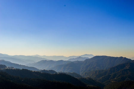 the mountain range: Mountain range in shimla