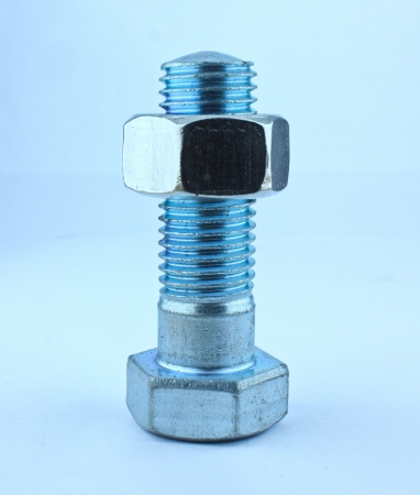 large group of items: Nuts and bolts  on a white background Stock Photo