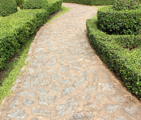 Stone  walkway in the park Stock Photo - 17307035
