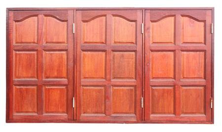 Three wooden window shutters were closed Stock Photo - 18958733