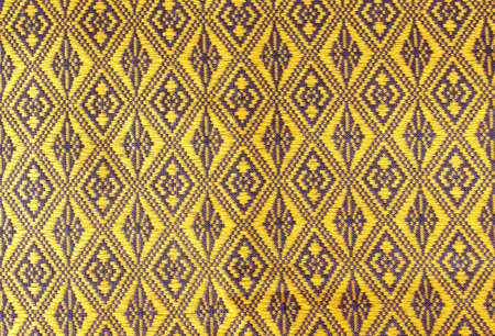Colorful thai fabric pattern background photo