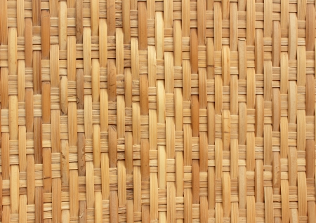 handcraft of bamboo weave pattern for background use Stock Photo