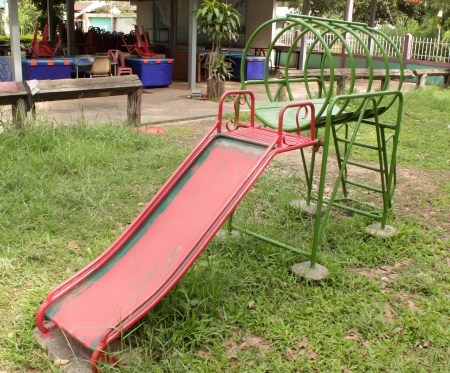 Slide playground in the school photo