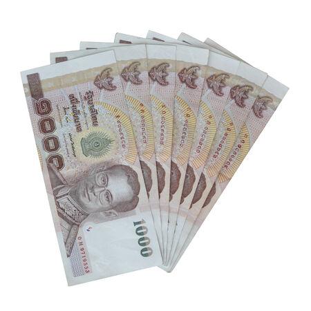 Thai money on white background Stock Photo