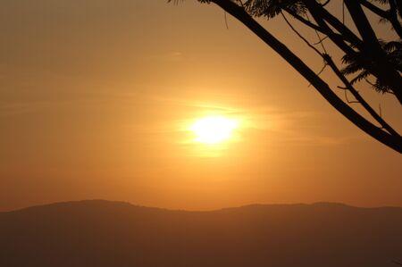 Sunset at pha keb tawan Thailand
