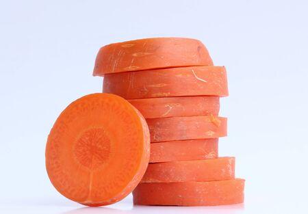 Carrot slice on white background