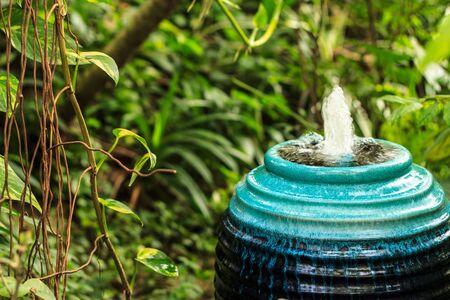 Fountain in the Garden on Morning sunshine day Stock Photo - 16442689