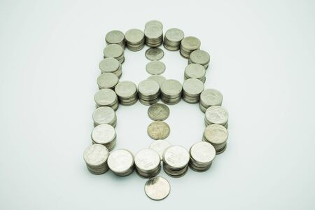 Thb Coins Stack To Be A Thb Symbol Stock Photo Picture And Royalty