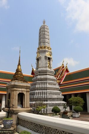 wat pho: Wat Pho, a beautiful temple in Bangkok, Thailand Stock Photo