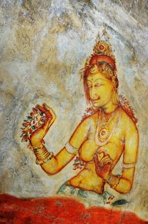 wall painting of Sigiriya woman