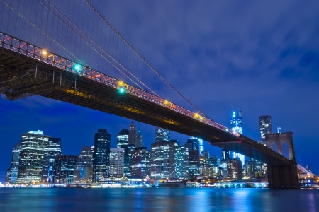newyork: New York City at Night, USA Stock Photo