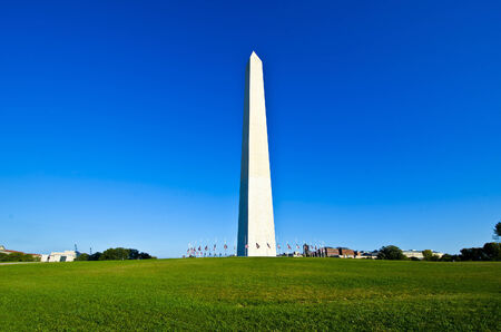 Monument on clear sky in Washington DC, USA Stock Photo