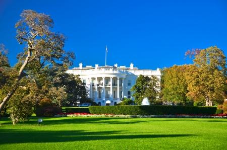 office politics: White house building, Washington DC, USA