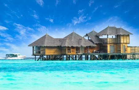 maldives island: Beautiful water villa house in Maldives