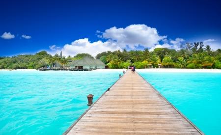 열대 섬의 놀라운 바다 전망