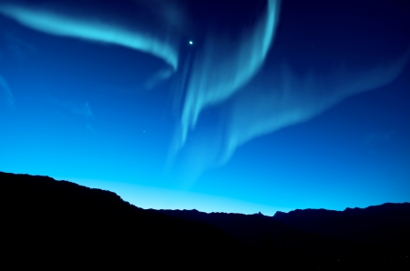 arctic zone: Northern lights
