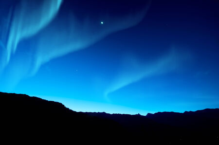 alpine zone: Northern lights