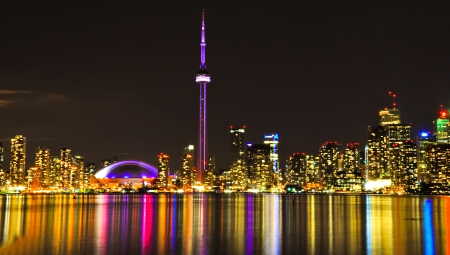 Toronto Skyline at Night Stock Photo - 23058683