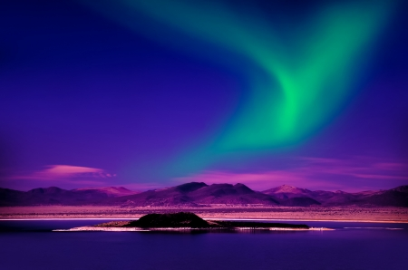 northern lights: Northern Lights aurora borealis Stock Photo