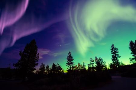 Northern Lights aurora boreale Archivio Fotografico - 25312043