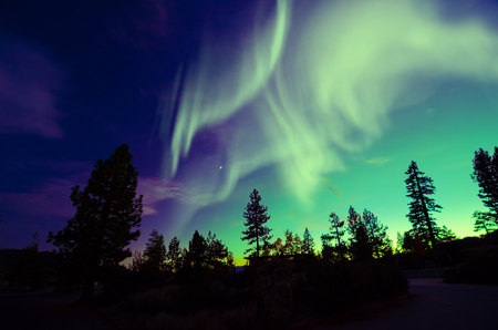 Northern Lights aurora borealis Stock Photo