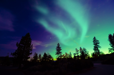 star light: Northern Lights aurora borealis Stock Photo