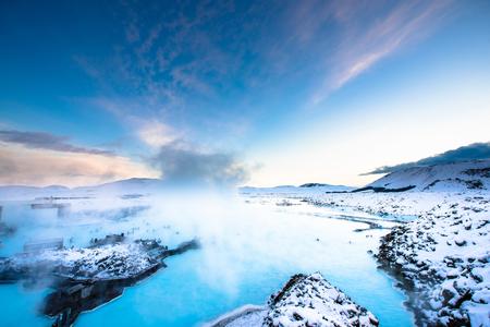 blue lagoon: laguna blu vicini a Reykjavik, Islanda Archivio Fotografico