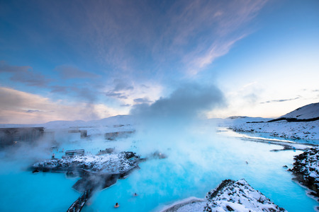 therapy geothermal: blue lagoon Stock Photo