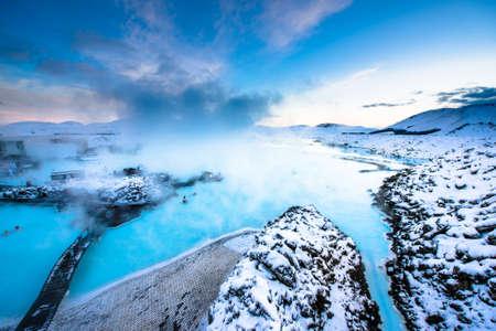 blue lagoon: la famosa laguna blu vicini a Reykjavik, Islanda
