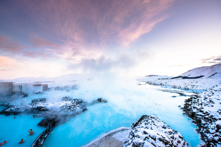 therapy geothermal: the famous blue lagoon near Reykjavik, Iceland