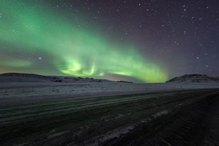 aurora: Aurora borealis, northern lights Stock Photo