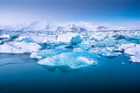 Jokulsarlon ice lagoon in Iceland 스톡 콘텐츠