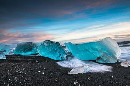 iceberg: Jokulsarlon ice lagoon in Iceland Stock Photo