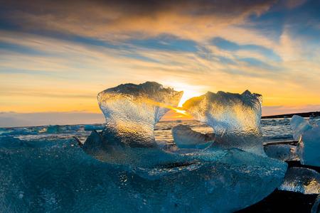 jokulsarlon: Jokulsarlon ice lagoon in Iceland Stock Photo