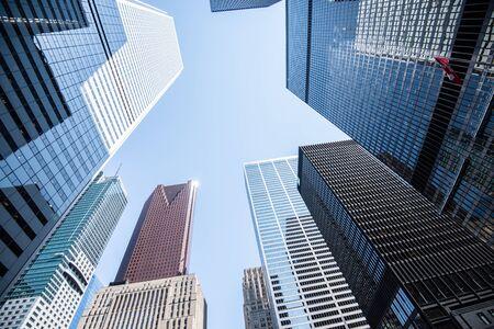 Modern buildings in Toronto city, Canada