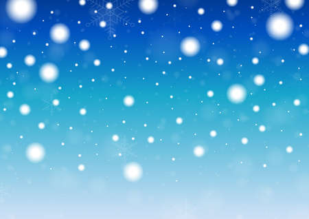 Merry Christmas background, Snowflakes and snowfall.Template Design for postcard and banner. Vector And Illustration.