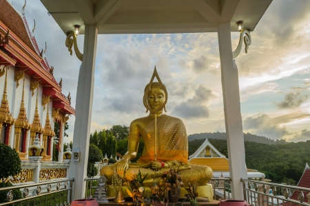 Buddha image in sitting posture, Phuket photo