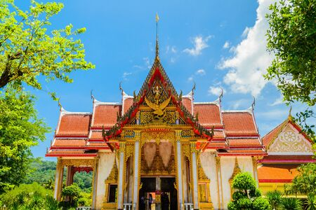 Bright day at chalong temple, Phuket photo