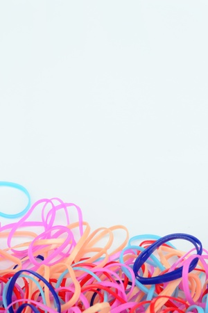 compile: Isolate of colourful rubber band Stock Photo