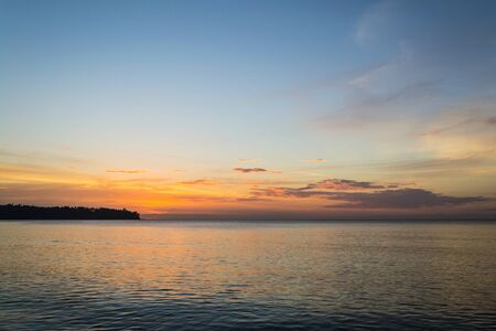 seaview: The  scenery of west coast of phuket in the evening after sunset