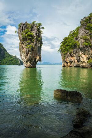 An island in phang nga bay which many year ago was filmed name James bond 007 photo