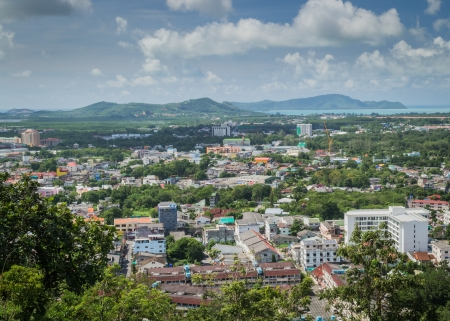 Landscape of Phuket Town view from Rang Hill