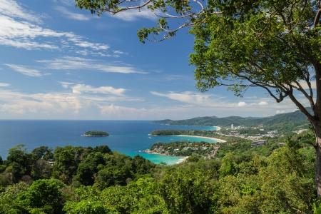 Sunny day at karon view point, Phuket, Thailand
