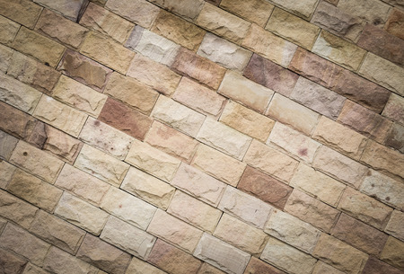 background of sandstone brick on the wall