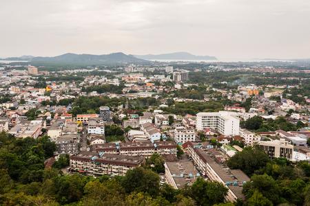 View of phuket town from rang hill, phuket, thailand