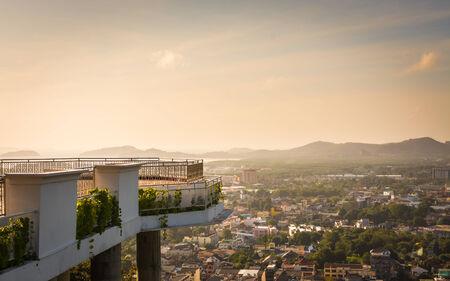 rang: View of phuket town from rang hill, phuket, thailand