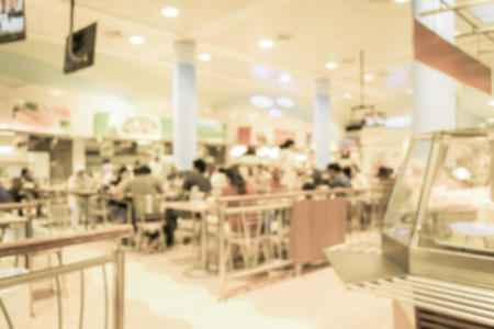 Abstract of blurred people in the food court