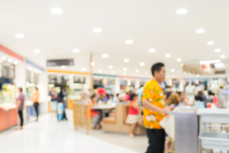 food court: Abstract of blurred people in food court