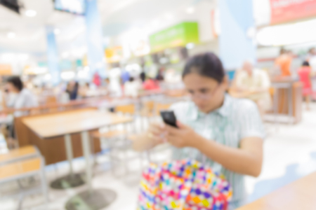 food court: Abstract of blurred people in the food court